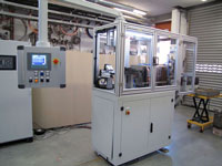 Machine for induction heating of brass billets